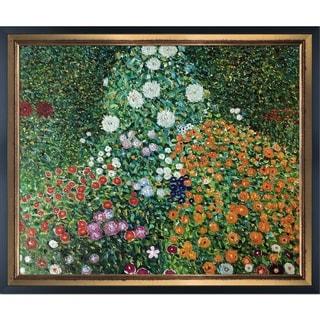Gustav Klimt 'Flower Garden' Hand Painted Oil Reproduction