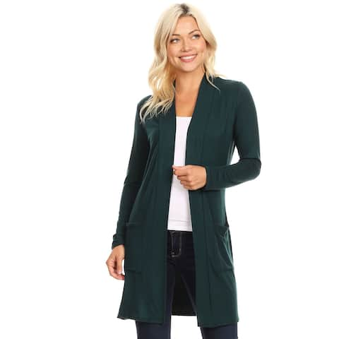 d4db49f1582 Women s Casual Solid Duster Cardigan