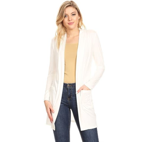 Women's Casual Solid Duster Cardigan