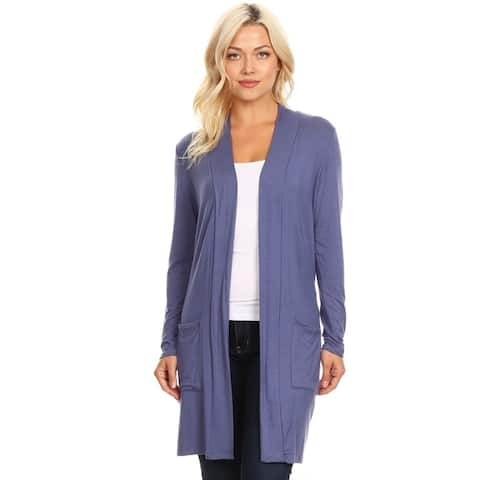 3ed9114f967 Women s Casual Solid Duster Cardigan