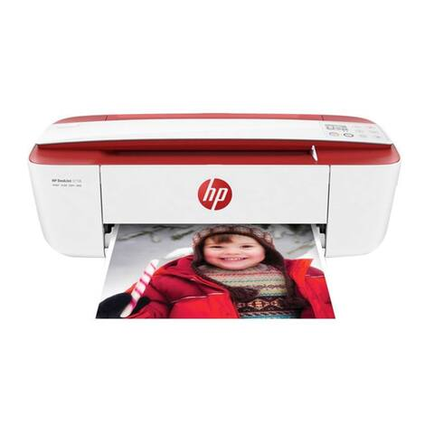 Refurbished HP 3755 All In One Color Ink Jet Printer- RED