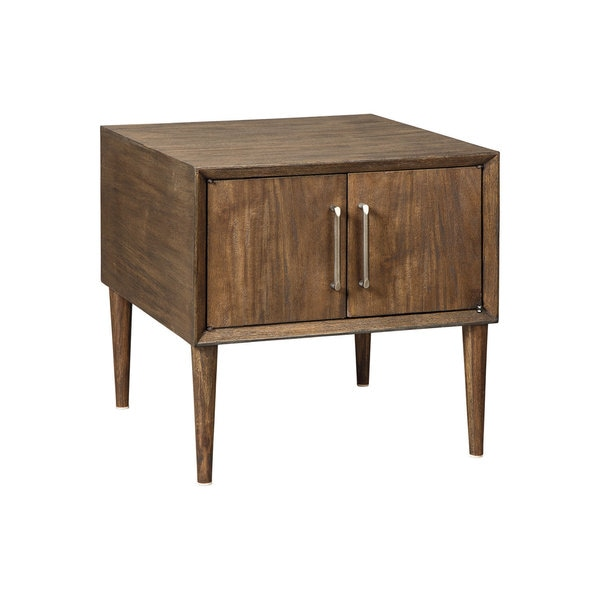 Signature Designs By Ashley Rollins Square End Table: Shop Signature Design By Ashley, Kisper Dark Brown Square