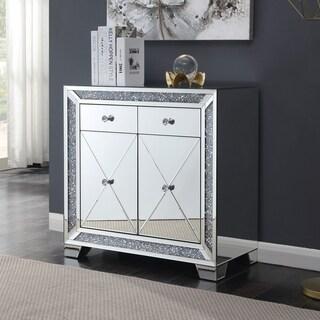 Furniture of America Huck Glam Sliver 2-drawer Hallway Cabinet