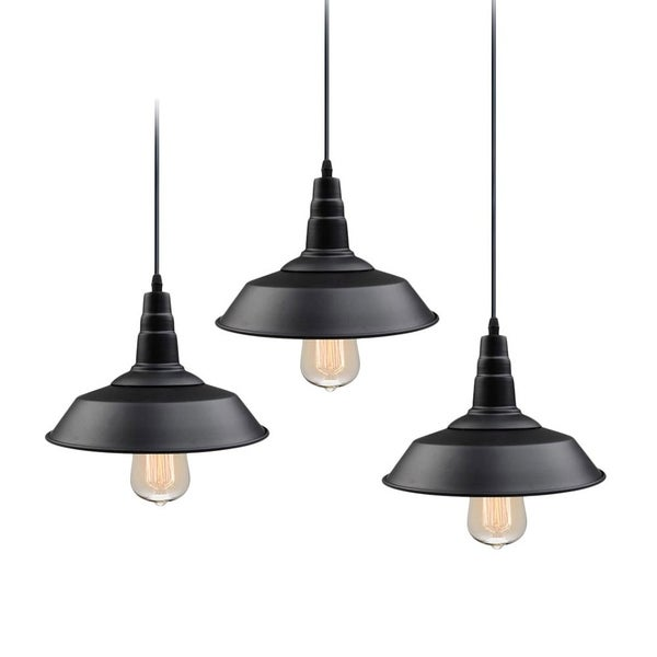 Shop LNC Black Metal 1-light Barn Warehouse Ceiling