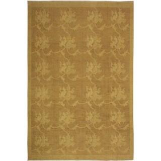 Peshawar Modern Jenell Light-brown/Tan Wool Rug - 8'10 x 11'1
