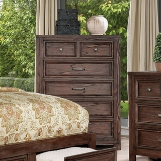 Furniture of America Nuch Rustic Solid Wood 5-drawer Chest