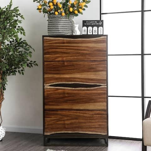 Carbon Loft Bourdain Rustic Dark Walnut 4-drawer Chest