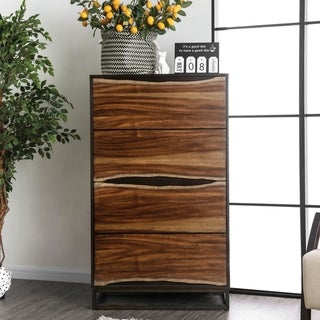 Link to Carbon Loft Bourdain Rustic Dark Walnut 4-drawer Chest Similar Items in Dressers & Chests