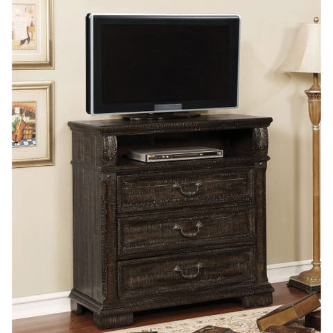 Furniture of America Cix Traditional 38-inch Walnut 3-drawer TV Stand