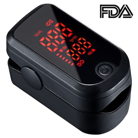 Digital Pulse Oximeter Instant Read Oxygen Sensor and Pulse Rate Monitor with LED Display