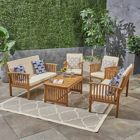 Carolina Outdoor 6-Seater Conversation Set by Christopher Knight Home