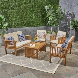 Link to Carolina Outdoor 6-Seater Conversation Set by Christopher Knight Home Similar Items in Outdoor Sofas, Chairs & Sectionals