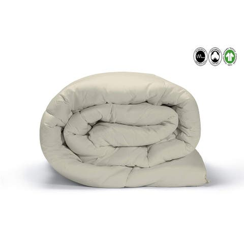 100% Organic Cotton Solid Wrinkle Resistant Duvet Set