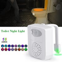 Toilet Night Light 16 Colors Changing Motion Activated Led Toilet Seat Light - White