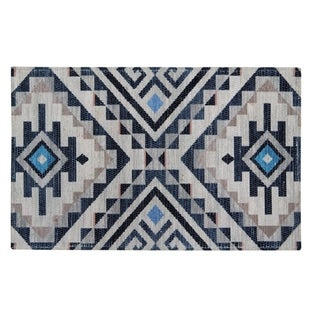 """Kapsos Recycled Material Handwoven Printed Kitchen Mat - 2'1"""" x 3'4"""""""