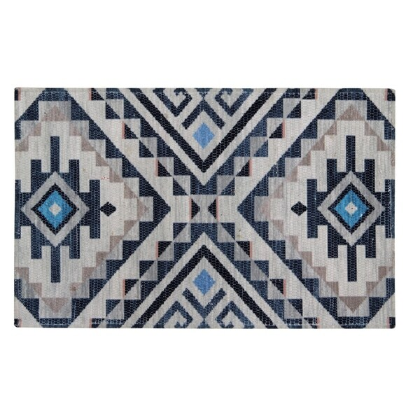 Shop Handwoven Printed Nonslip Rubber Back Kitchen Rug 2 X 3 Luxe