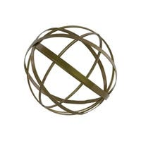 Metal Orb Dyson Sphere Sculpture, Large, Gold