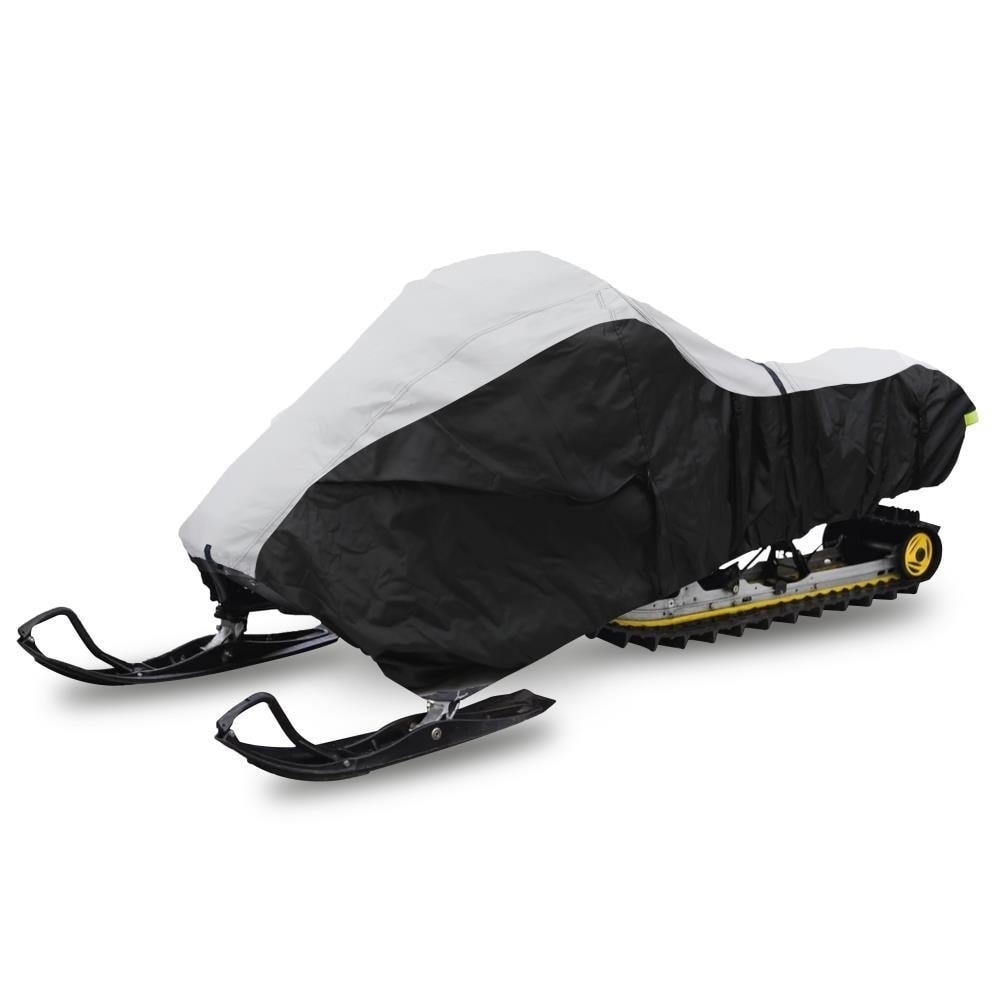 """PCVSNMEX16 Elastic Cord /& Waterproof Fabric for Safe Storage /& Travel Protects Against Mildew /& UV Damage Pyle 118/"""" Heavy Duty Snowmobile Cover Universal Design w//Non-Scratch Hood Liner"""