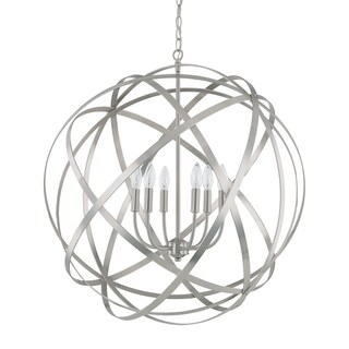Link to Axis 6-light Brushed Nickel Pendant - Brushed Nickel Similar Items in Pendant Lights