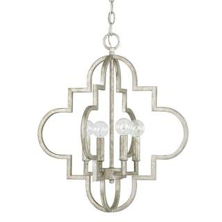Link to Ellis 4-light Antique Silver Pendant - Antique Silver Similar Items in Pendant Lights