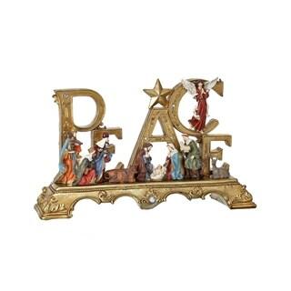 """23 """"Peace"""" Nativity Table Piece"""""""