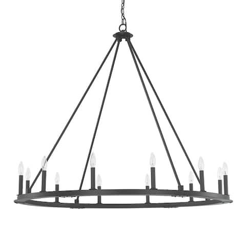 Pearson 12-light Black Iron Chandelier