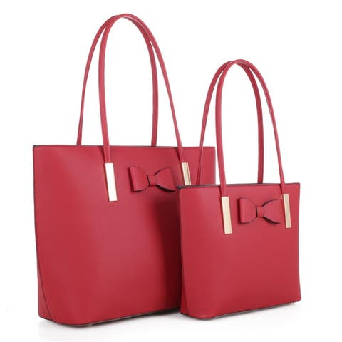 MKF Collection Jemma 2 PC Tote with Matching Set by Mia K.
