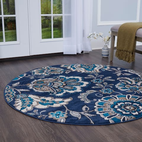 """Home Dynamix Tremont Lincoln Area Rug - 5'2"""" Round"""