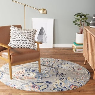 Tremont Floral Gray Area Rug by Home Dynamix