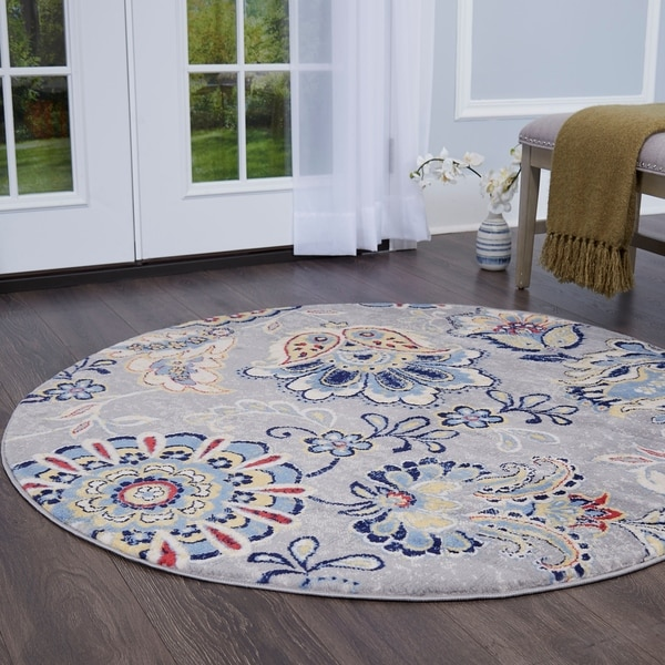 Shop Tremont Floral Navy Blue Area Rug By Home Dynamix
