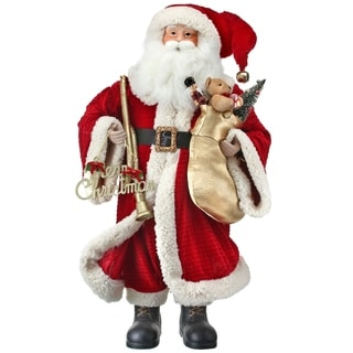 "Link to 36"" velvet/fur ""merry christmas"" santa w/Stocking Similar Items in Christmas Decorations"