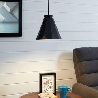 Carson Carrington Wara Black Midcentury Modern Pendant Lamp