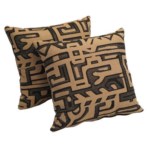 Kilamanjaro 17-inch Tapestry Accent Throw Pillow (Set of 2)