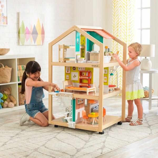 Shop Kidkraft So Stylish Mansion Dollhouse With Ez Kraft Assembly