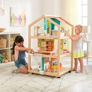 KidKraft So Stylish Mansion Dollhouse with EZ Kraft Assembly