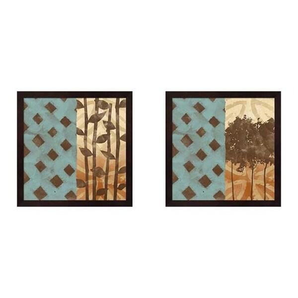 Shop Alonzo Saunders \'Three\'s Company & Four More\' Framed Art (Set ...
