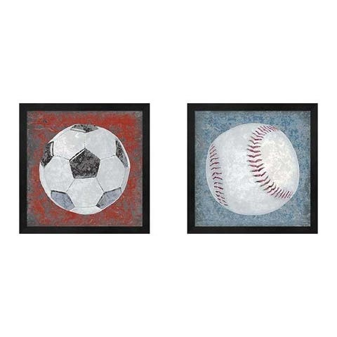 Studio W 'Grunge Sporting' Framed Art (Set of 2)