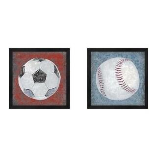 Studio W 'Grunge Sporting' Framed Art (Set of 2)