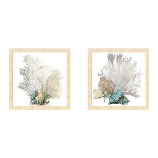 Aimee Wilson 'Coral' Framed Art (Set of 2)