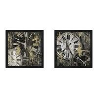 Edward Selkirk 'Clockwork' Framed Art (Set of 2)