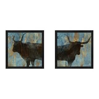 Aimee Wilson 'Bison' Framed Art (Set of 2)