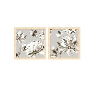 Asia Jensen 'Botanical Gray' Framed Art (Set of 2)