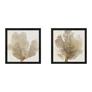 PI Galerie 'Gold Coral' Framed Art (Set of 2)