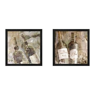 Edward Selkirk 'Wedding Wine' Framed Art (Set of 2)