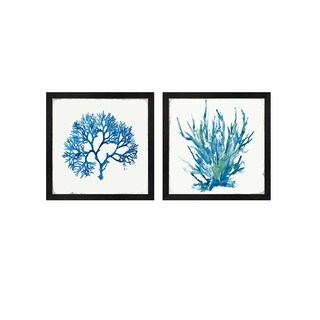 Aimee Wilson 'Blue Coral' Framed Art (Set of 2)
