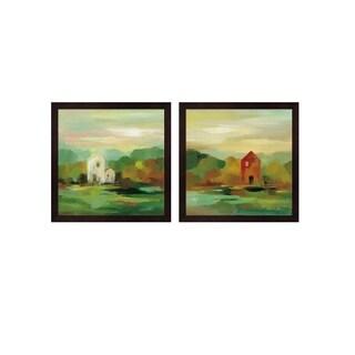 Silvia Vassileva 'October Farm' Framed Art (Set of 2)