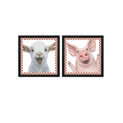 Myles Sullivan 'Farm Friends Border B' Framed Art (Set of 2)