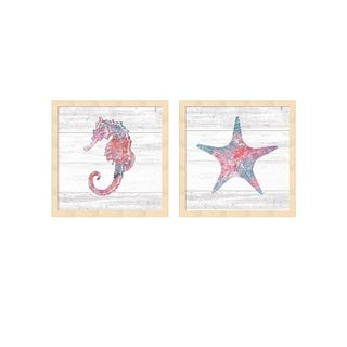 Sarah Adams 'Ocean Life B' Framed Art (Set of 2)