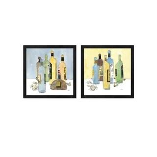 Sam Dixon 'Garlic and Oil' Framed Art (Set of 2)