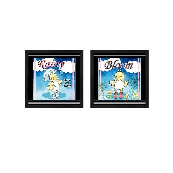 Valarie Wade 'Rainy Days & Bloom' Framed Art (Set of 2)